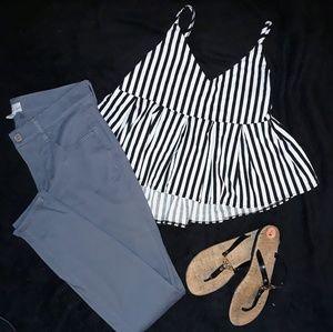 Gray pants size 2 Ann Taylor loft